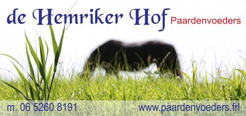 De Hemriker Hof is sponsor van de Wâldruters